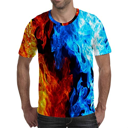 - Unisex 3D Printed Tie Dye Creative Funny Summer Casual Short Sleeve T-Shirts Tees T03314 2XL