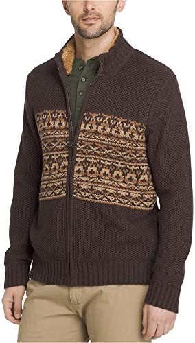 G.H. Bass & Co. Mens Rock Ridge Full-Zip Cardigan Sweater Brown Medium / G.H. Bass & Co. Mens Rock Ridge Full-Zip Cardigan Sweater Brown Medium