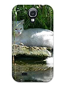 DUhBcmi9431pqBbg Case Cover, Fashionable Galaxy S4 Case - Regal White Cat Animal Cat