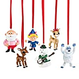 Department 56 Rudolph the Red-Nosed Reindeer Mini Ornaments, 2 inch (Assorted Styles)