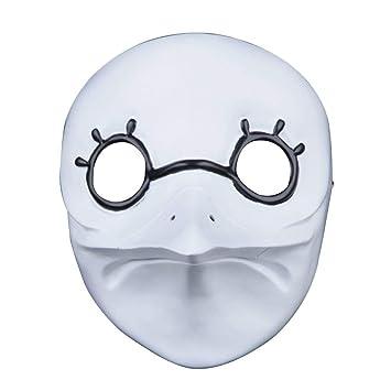 Máscara de resina para Halloween, máscara de bronce Jason, colección Xinxun, edición de película temática para niños, máscara de adulto White 3: Amazon.es: ...