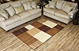 """Modela Collection Geometric Abstract Area Rugs New Vibrant Colors (Brown, 4'9″ x 6'10"""") For Sale"""