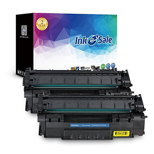 (INK E-SALE Compatible Toner Cartridge Replacement for HP 49A Q5949A 53A Q7553A (Black, 2 Pack), for use with HP Laserjet 1320 1320n 3390 P2015 P2015d P2015dn P2014 M2727 M2727nf MFP Printer Series)