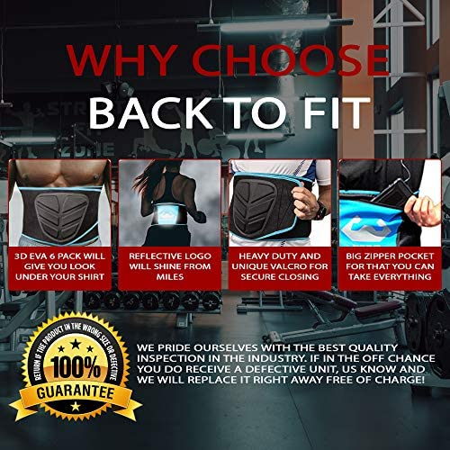 Back To Fit Waist Trimmer for Men and Women for Workout and Sweat ABS 6