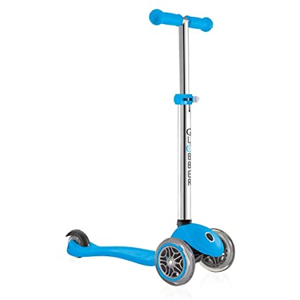 Globber 3 Wheel Adjustable Height Scooter (Light Blue)