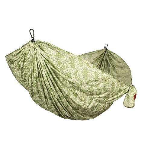 (Grand Trunk Double Parachute | Compact Portable Nylon Print Hammock with Carabiners and Hanging Kit - Urban Camouflage)