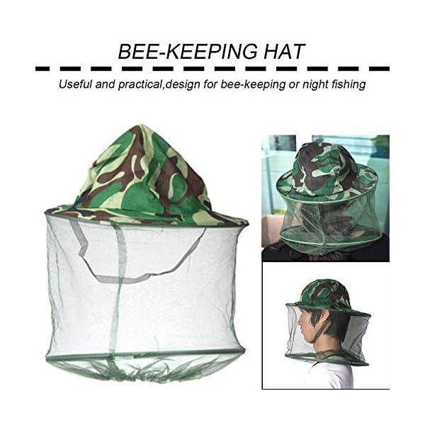 FinukGo Cappello Apicoltore Cappello Mimetico Esterno Cappello Ape Anti-zanzara all'aperto Cappello cespuglio Pesca… 3 spesavip