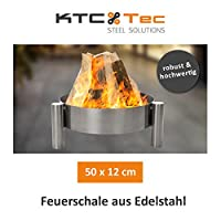 Feuerstelle klein silber Edelstahl Fire Pit ✔ rund