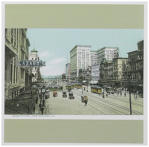 New Orleans Canal Street - 3dRose Canal Street, New Orleans, Louisiana Street Scene - Greeting Cards, 6 x 6 inches, set of 6 (gc_170070_1)