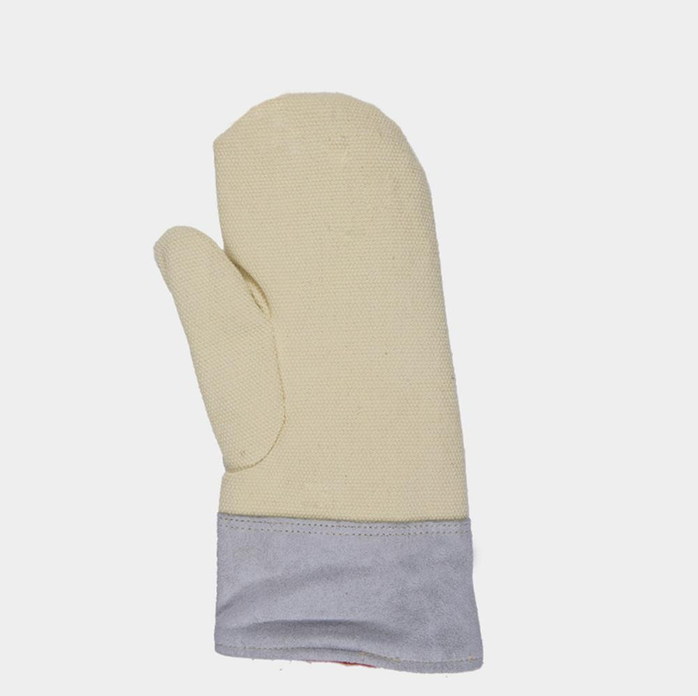 High Temperature 500 ° Glove Oven Thermal Insulation Working Gloves Wear Resistant Wrinkle Thicker Microwave Universal Gloves , l by LIXIANG (Image #3)