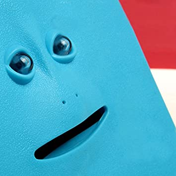 BEESCLOVER Face Bank Coin Eating Savings Bank Kids Saving Box or Novelty Gift Piggy Banks for Children Blue