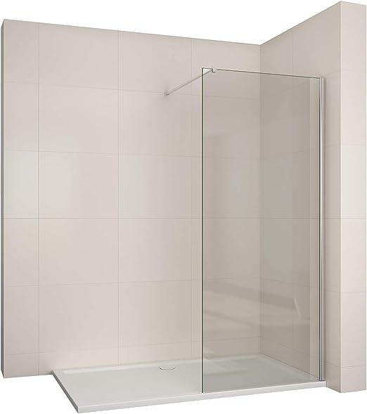 Walk in Mampara de vidrio de 6 mm ducha pared con 100 cm Asidero ...