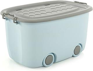 Axiba- Storage Box di Stoccaggio Scatola dei Giocattoli Puleggia di Finitura Scatole Box di Stoccaggio Coperchio,D-47 * 33 * 25cm