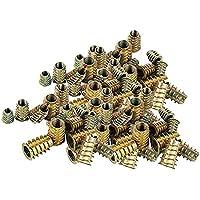 100 stuks zinklegering inschroefmoeren, moeren met schroefdraad, M4, M5, M6 en M8, rampamoeren, assortiment moeren voor…