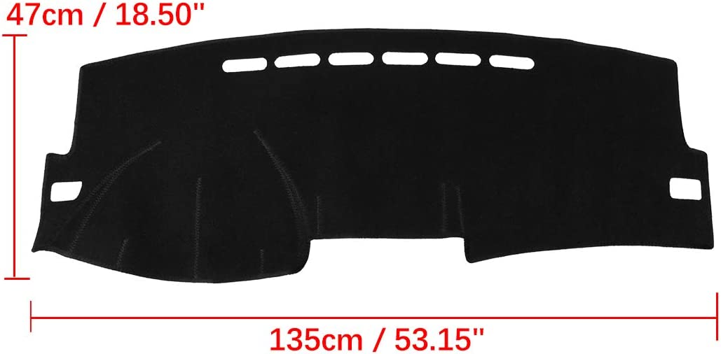 X AUTOHAUX Car Dashboard Cover Nonslip Black Sun Pad for Toyota Corolla 2007-2013