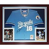 Bo Jackson Autographed Kansas City Royals (Baby Blue #16) Deluxe Framed Jersey - Jackson Holo