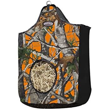 NEW TACK! Showman REAL OAK ORANGE CAMOUFLAGE Cordura Nylon Insulated Saddle Bag