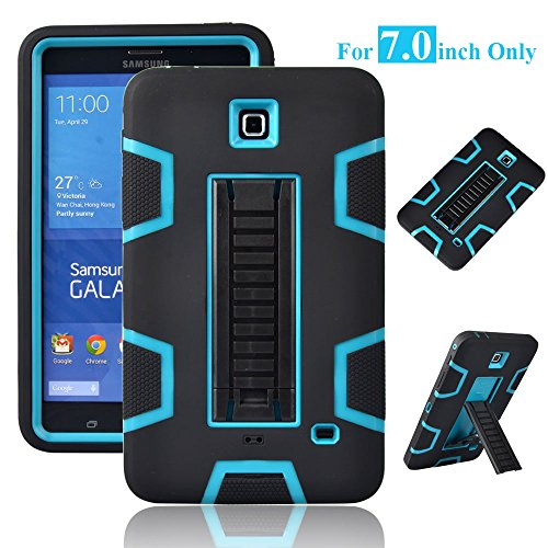 Galaxy Tab 4 7.0 Case, Magicsky 3in1 Heavy Duty Hybrid Shockproof Armor Kickstand Case for Samsung Galaxy Tab 4 7.0 inch T230 /T231/ T235 Galaxy Tab 4 Nook Cover - Blue/Black