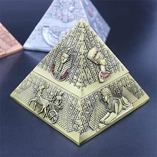 NACHEN Ashtray Egyptian Pharaoh Metal Pyramid Creative Suitable for Club Hotel KTV Practical -
