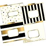 Barker Creek Fashion File Folders - Gold, Set of 12 (LL-1337)