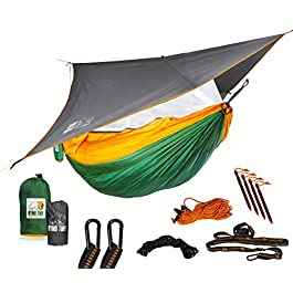 Ryno Tuff Camping Hammock with Mosquito Net And Rain Fly – Double Hammock with Bug Net and Tarp, Reinforced Not to Tear…
