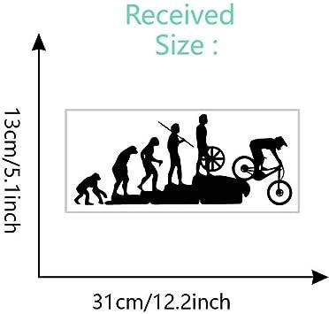Interesante evolución pegatina bicicleta de montaña cuesta abajo ...