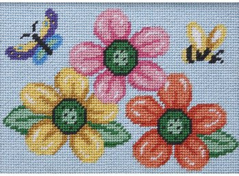 Flowers-Butterfly-Bee - Needlepoint Kit