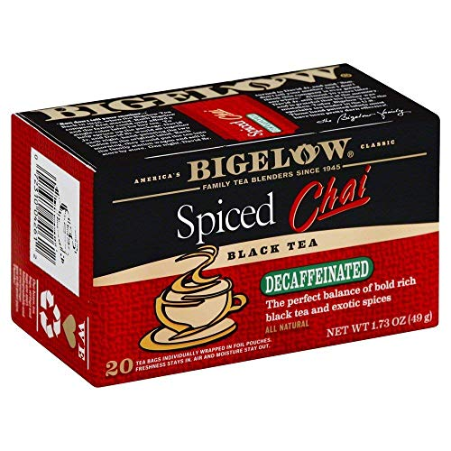Bigelow Tea Decaf Chai Spiced 20 Bags (3 Pack)