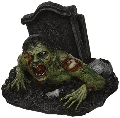 "PTC 9602 Zombie Hand Painted Cold Cast Resin Name Card Holder, 4.06"", Multicolor"