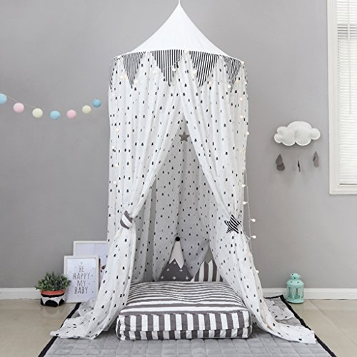 T- Children Tents Dome Bed Tent Nordic Style Cartoon Pattern Girls Indoor Fun Reading Baby Game House,(Only One Tent) ( Color : #2 )