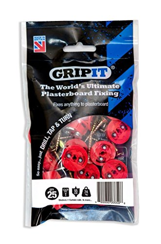Gripit - Red/18mm - Pack of 25 ()