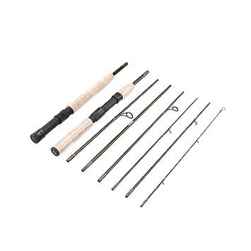 TwinkBling Carbon Fly Canne à pêche 7 Sections Portable Coque Pêche Pole  avec Tige détachable 35d86aef862