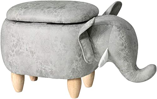 Haosoon Animal stool Series Upholstered Ride-on Storage Ottoman Footrest Stool
