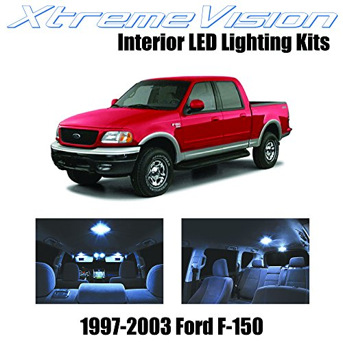 2003 10 Piece - XtremeVision Interior LED for Ford F-150 1997-2003 (10 Pieces) Cool White Interior LED Kit + Installation Tool