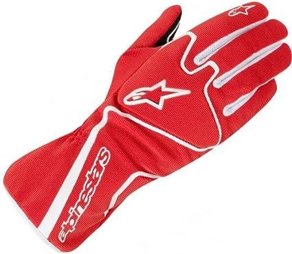 XL Red in Small White Alpinestars Tech 1-K Race Kart Gloves Black