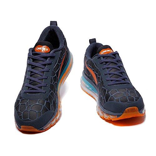 Adulto Azul Deportes Zapatillas de Mujer Atlético Running Hombre Respirable Onemix Unisex Anaranjado Air 0xYwpSwqP
