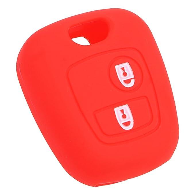 Holdream Carcasa de Silicona para Llaves de Coche Color Rojo