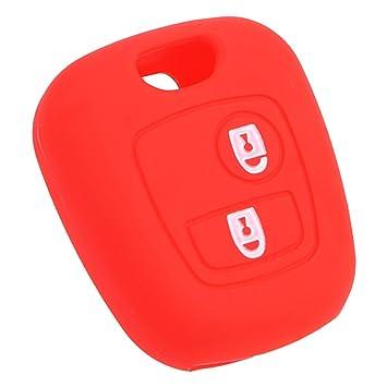 Holdream - Carcasa para Llave de Coche para Citroen Xsara (Silicona), Color Rojo