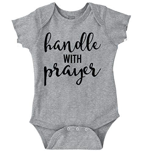 Handle with Prayer Christian Praying Bible Baby Romper Bodysuits