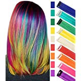 RYE 9PCS Rainbow Wigs Multicolored Hair Extensions Clip in Colorful Hairpieces for Girls and Dolls (Rainbow Color)