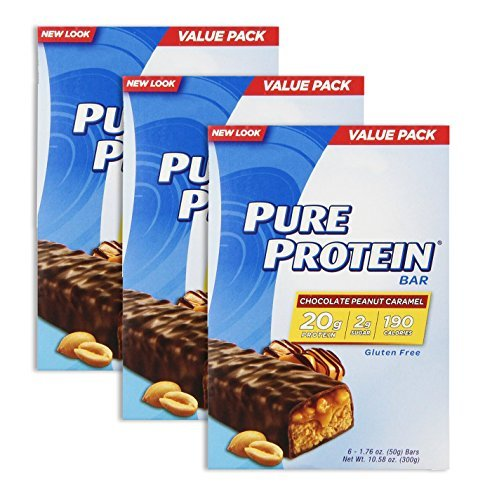 Pure Protein Bar Chocolate Peanut Caramel 6 Bars (3 Pack) by Pure Protein by Pure Protein