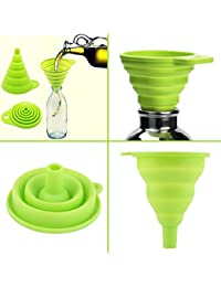 Gain 1 Piece New mini Silicone Gel Foldable Collapsible Style Funnel Hopper Kitchen cozinha cooking tools Accessories... cheapest