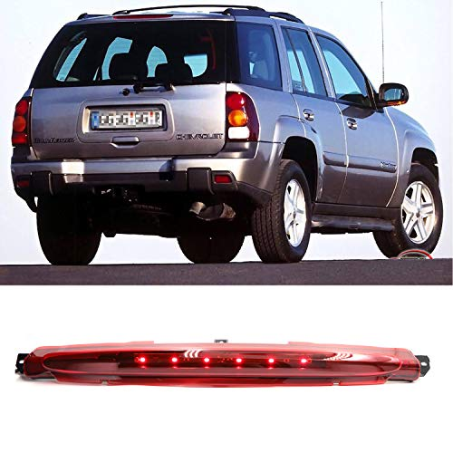 Center Hight Mount Stop Light Third 3rd Brake LED Lights/Reverse Brake Light Lamp Replacement for 2002-2009 Chevy GMC Buick Cargo Lights (Red)