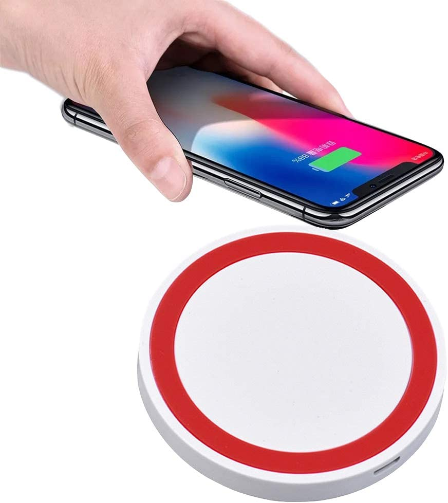 Red lotus.flower Ultra-Thin Fast Wireless Charger Pad Compatible for iPhone Xs MAX//XR//XS//X//8//8 Plus Samsung Galaxy S9//8//7//Note 8//9 and Qi-Enabled Phones
