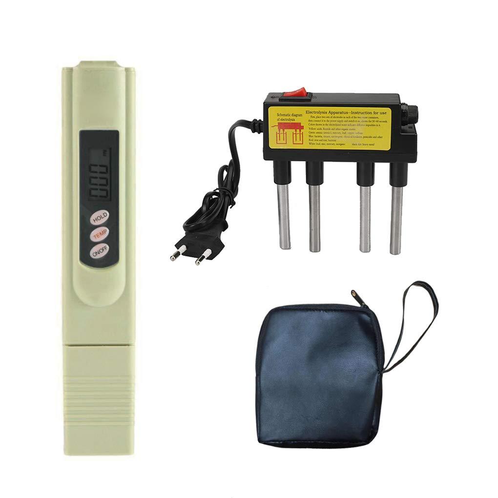 Morza TDS Acqua Electrolyzer Test Elettrolisi Digital Pen TDS qualità dell'Acqua del filtrante Livello di purezza Tester EU Plug