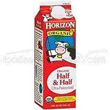 WhiteWave Horizon Organic Half and Half Cream, 32 Ounce -- 12 per case.