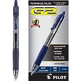 Pilot G2 Bolígrafos retráctiles de tinta de gel premium, paquete de 4 cajas, punta fina negra, 48 bolígrafos en total, 46055, punta fina, Azul marino, Caja con docena