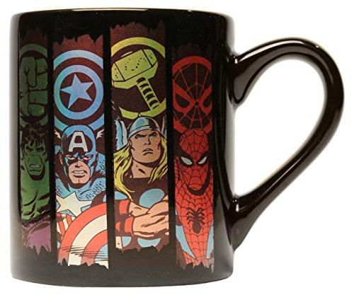 Price comparison product image Silver Buffalo MV2132Z Marvel Comics Panel Laser-Printed Ceramic Mug,  14-Ounces