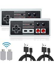 Rechargeable Manette NES Classic pour Nintendo Mini NES Classic Edition, manette de jeu sans fil pour Nintendo Mini NES Classic Edition, manette de jeu sans fil et manette de jeu(2 pièces)