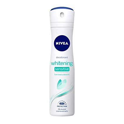 Nivea Whitening Sensitive 48 Hours Gentle Care Deodorant, 150 ml